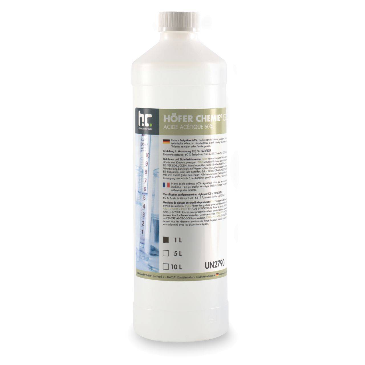 Höfer Chemie 15 l Acide Acétique 60% (15 x 1 l)
