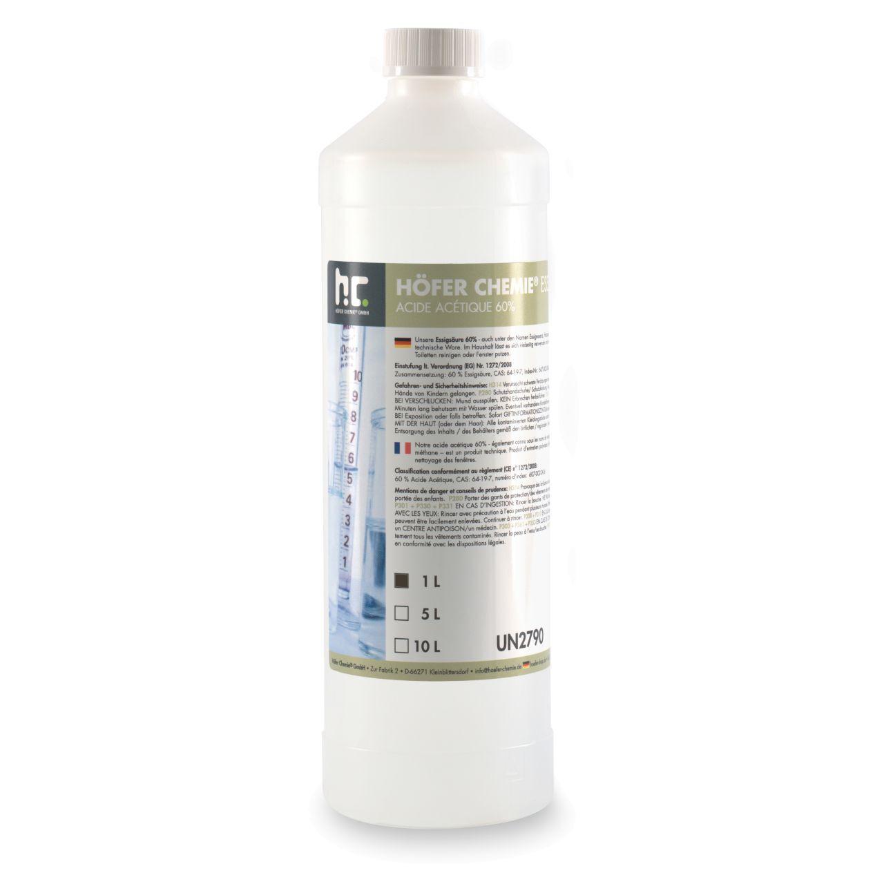 Höfer Chemie 6 l Acide Acétique 60% (6 x 1 l)