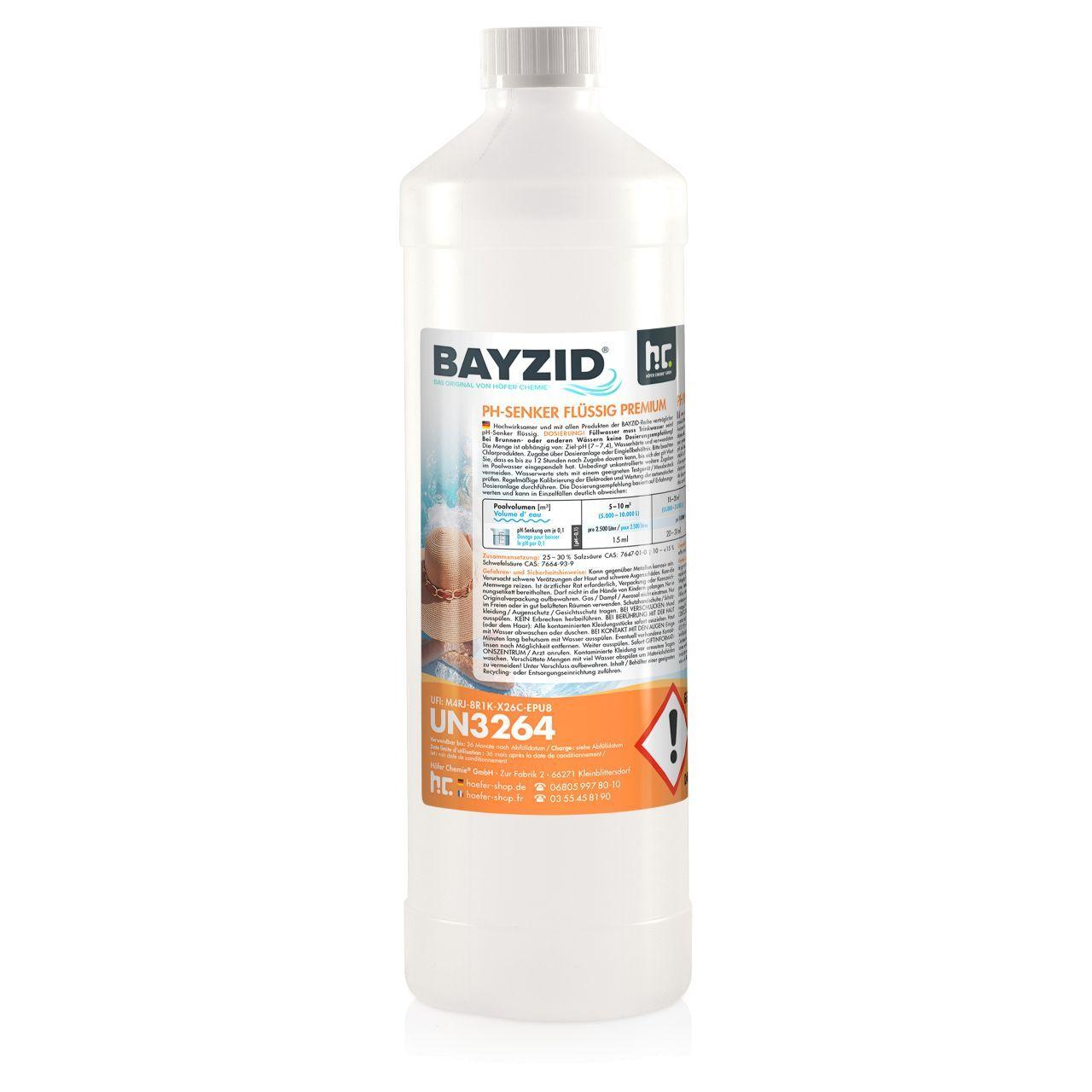 BAYZID 15 kg Bayzid® pH moins liquide (15 x 1 kg)