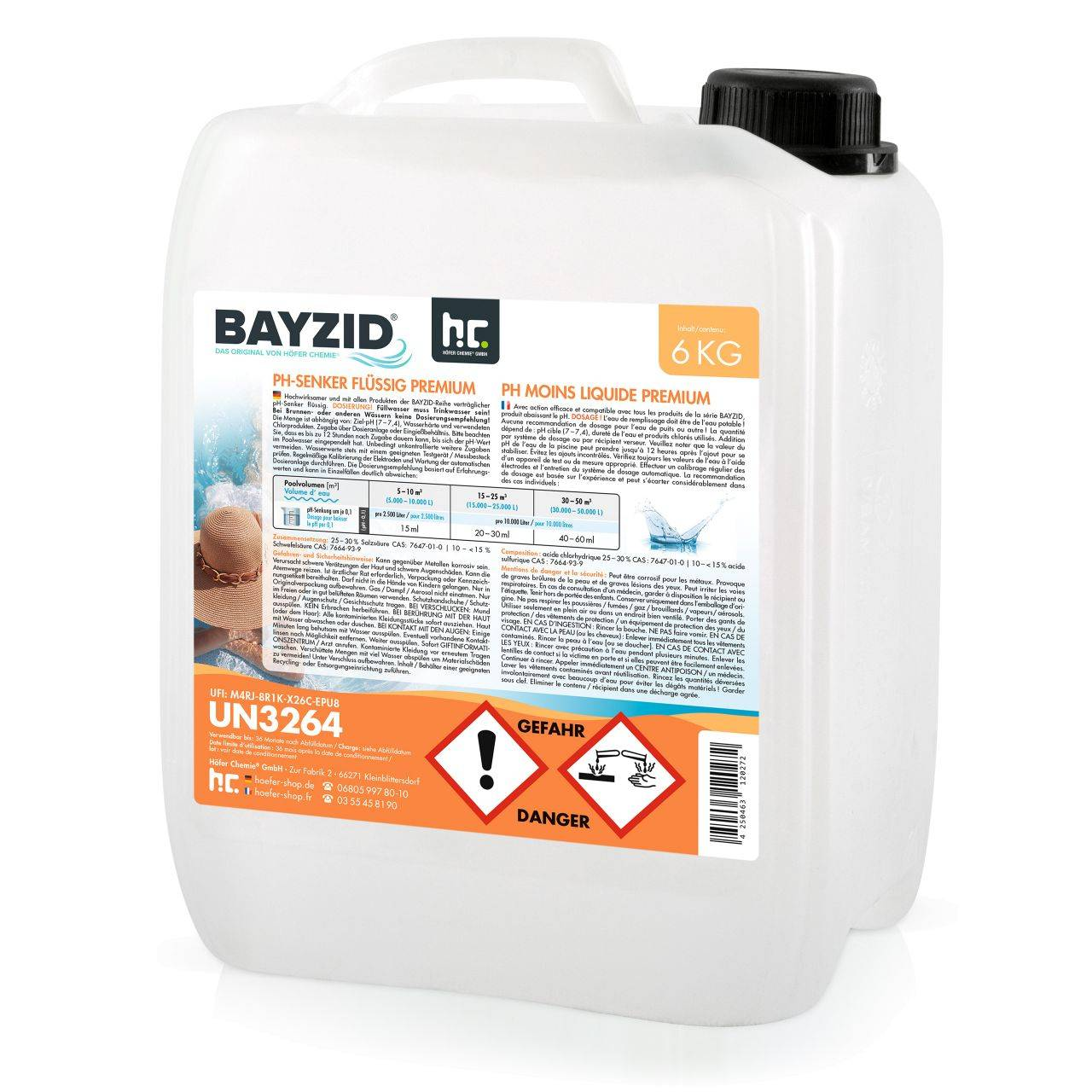 BAYZID 6 kg pH moins liquide (1 x 6 kg)