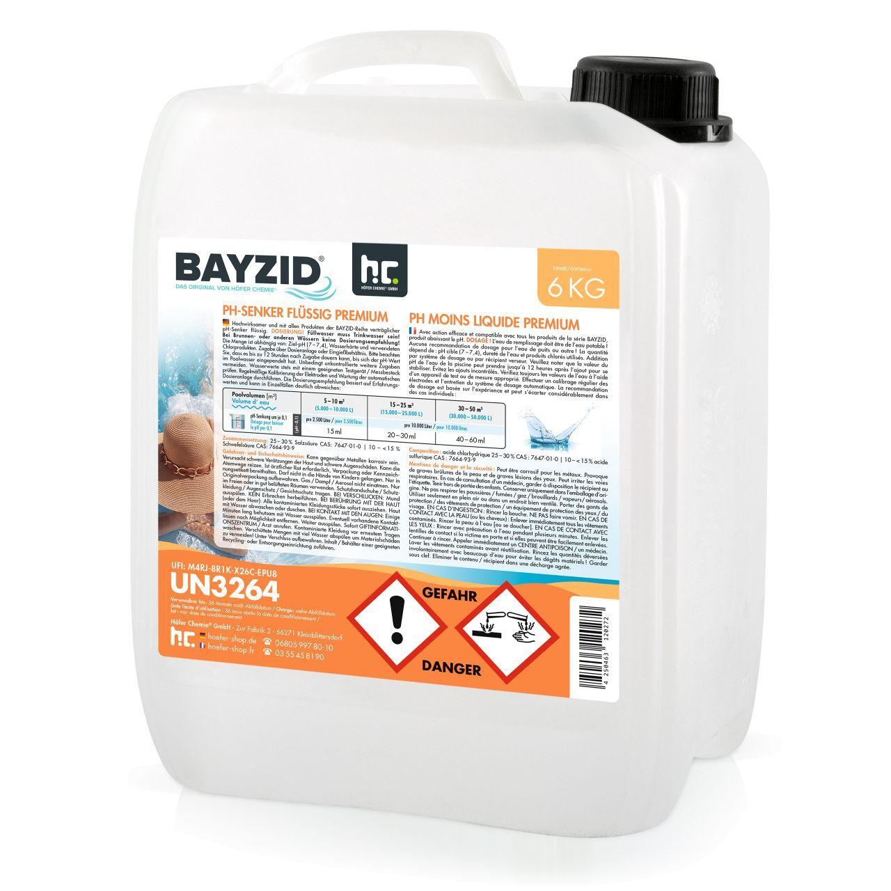 BAYZID 24 kg pH moins liquide (4 x 6 kg)