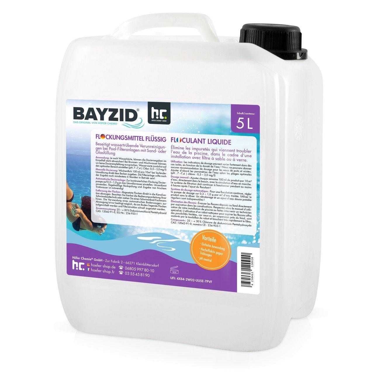 BAYZID 20 l BAYZID® Floculant liquide (4 x 5 l)