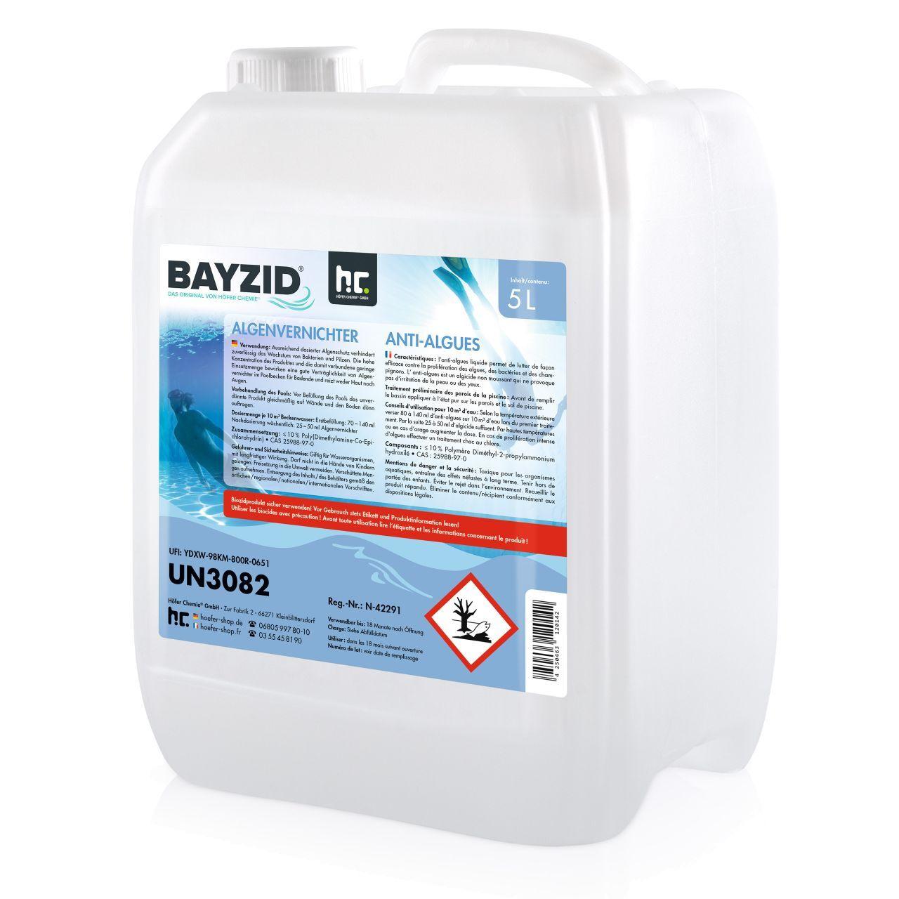BAYZID 10 l BAYZID® Anti-algues (2 x 5 l)