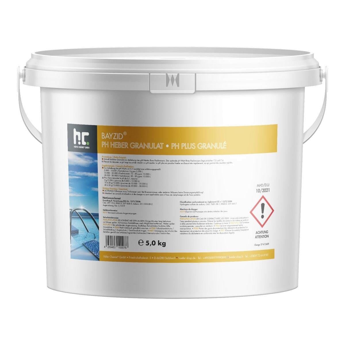 BAYZID 10 kg Bayzid® pH plus granulé (2 x 5 kg)