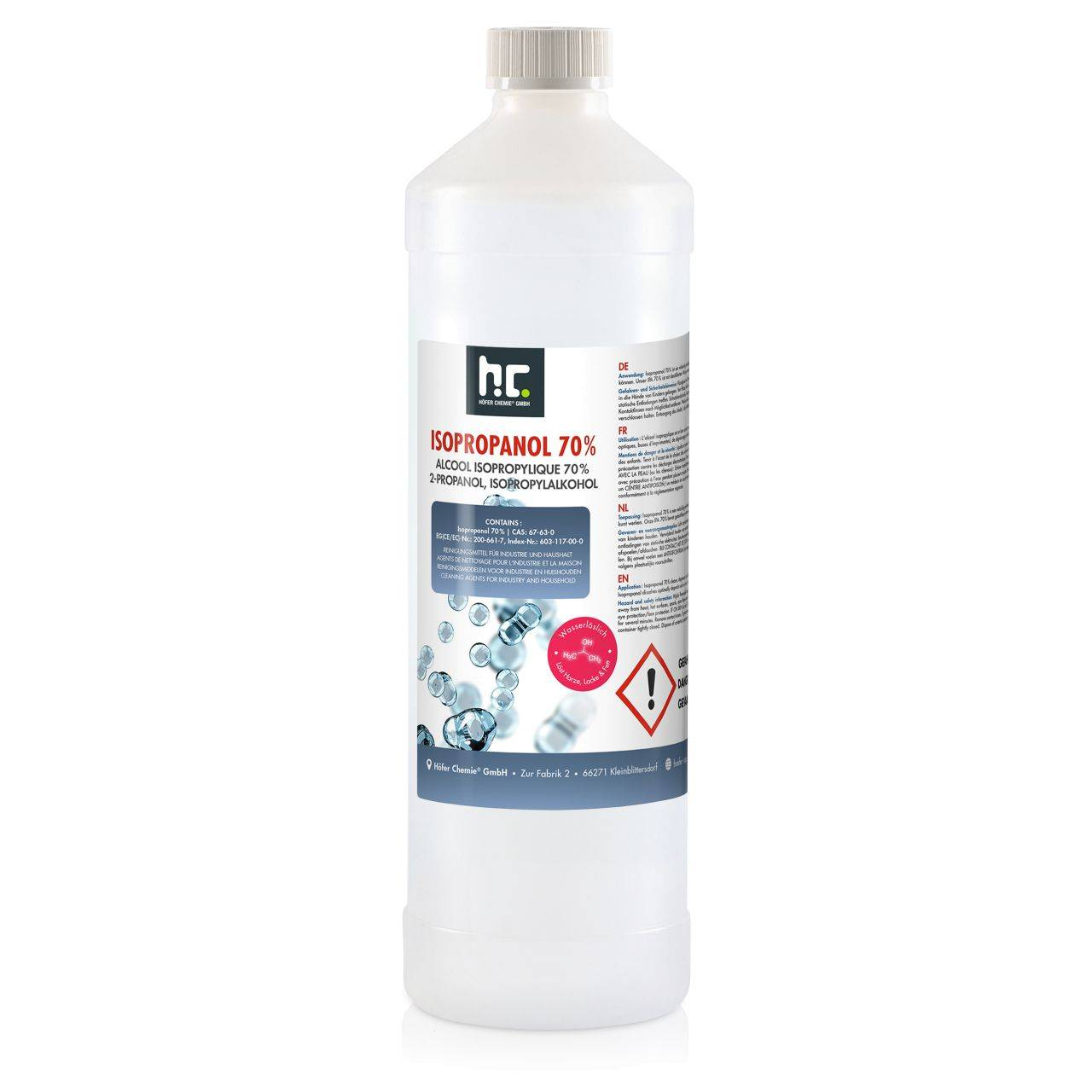 Höfer Chemie 1 l alcool isopropylique 70% (1 x 1 l)