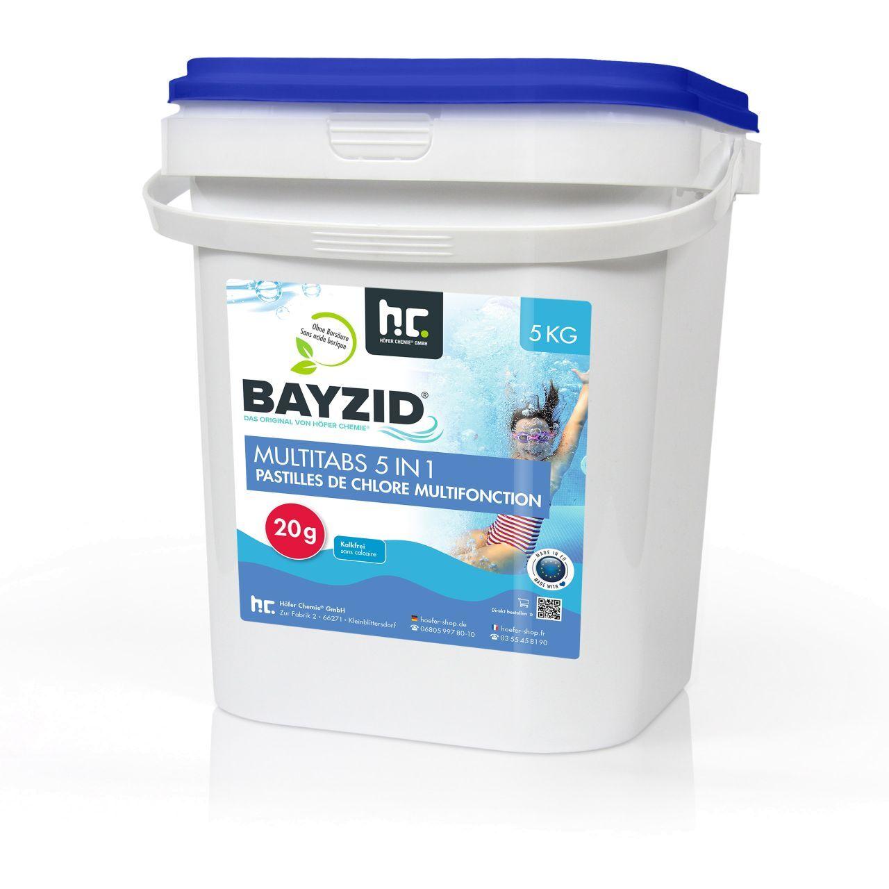 BAYZID 5 kg Bayzid® Pastilles de chlore multifonction (20g) (1 x 5 kg)
