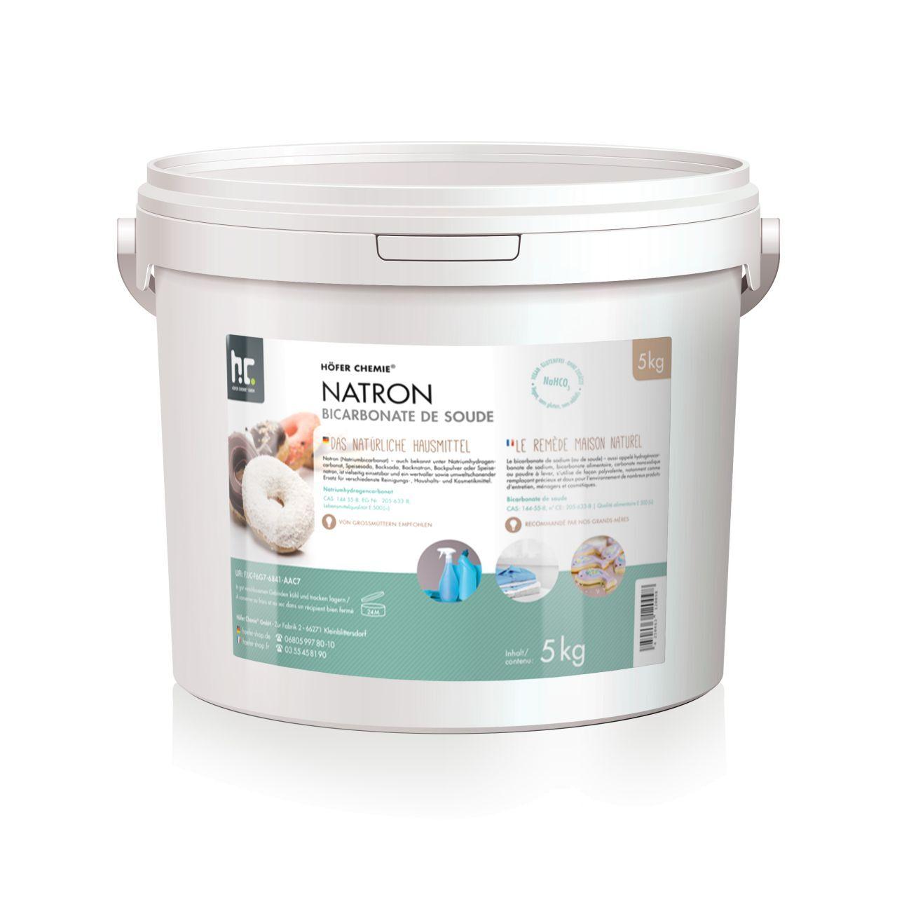 Höfer Chemie 10 kg de bicarbonate de sodium en qualité alimentaire (2 x 5 kg)