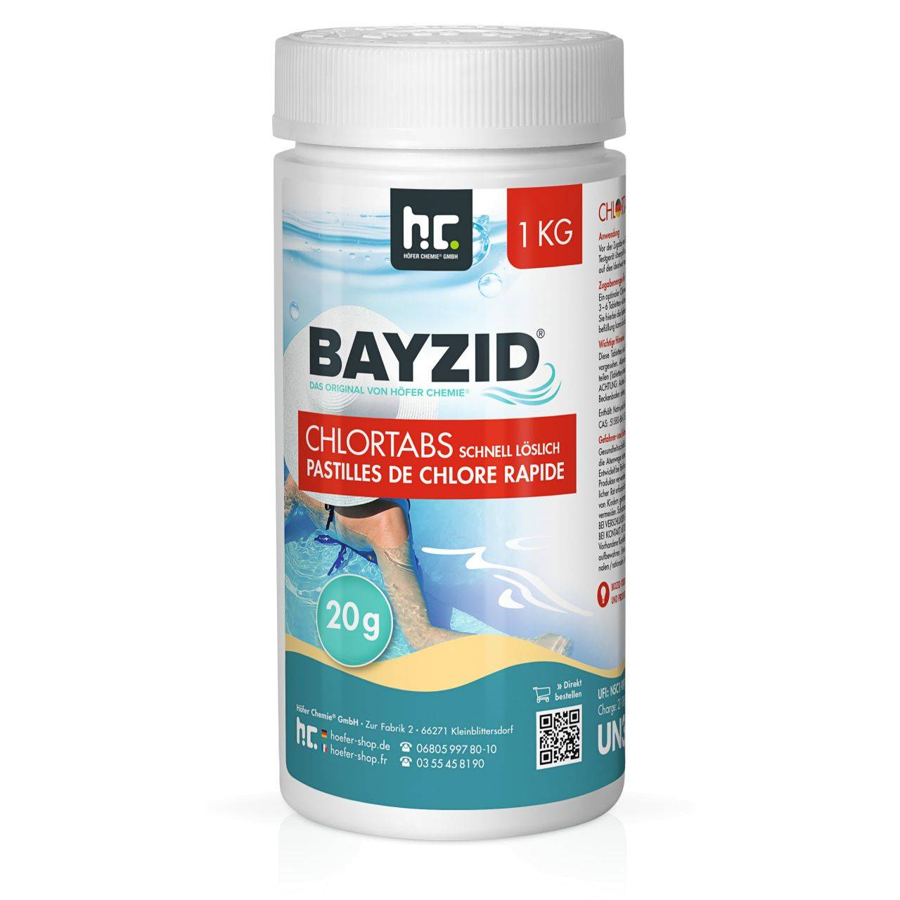 BAYZID 1 kg Bayzid® Pastilles de chlore choc (20g) (1 x 1 kg)