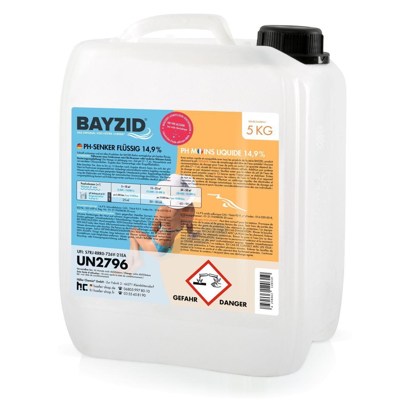 BAYZID 5 kg pH moins liquide (1 x 5 kg)