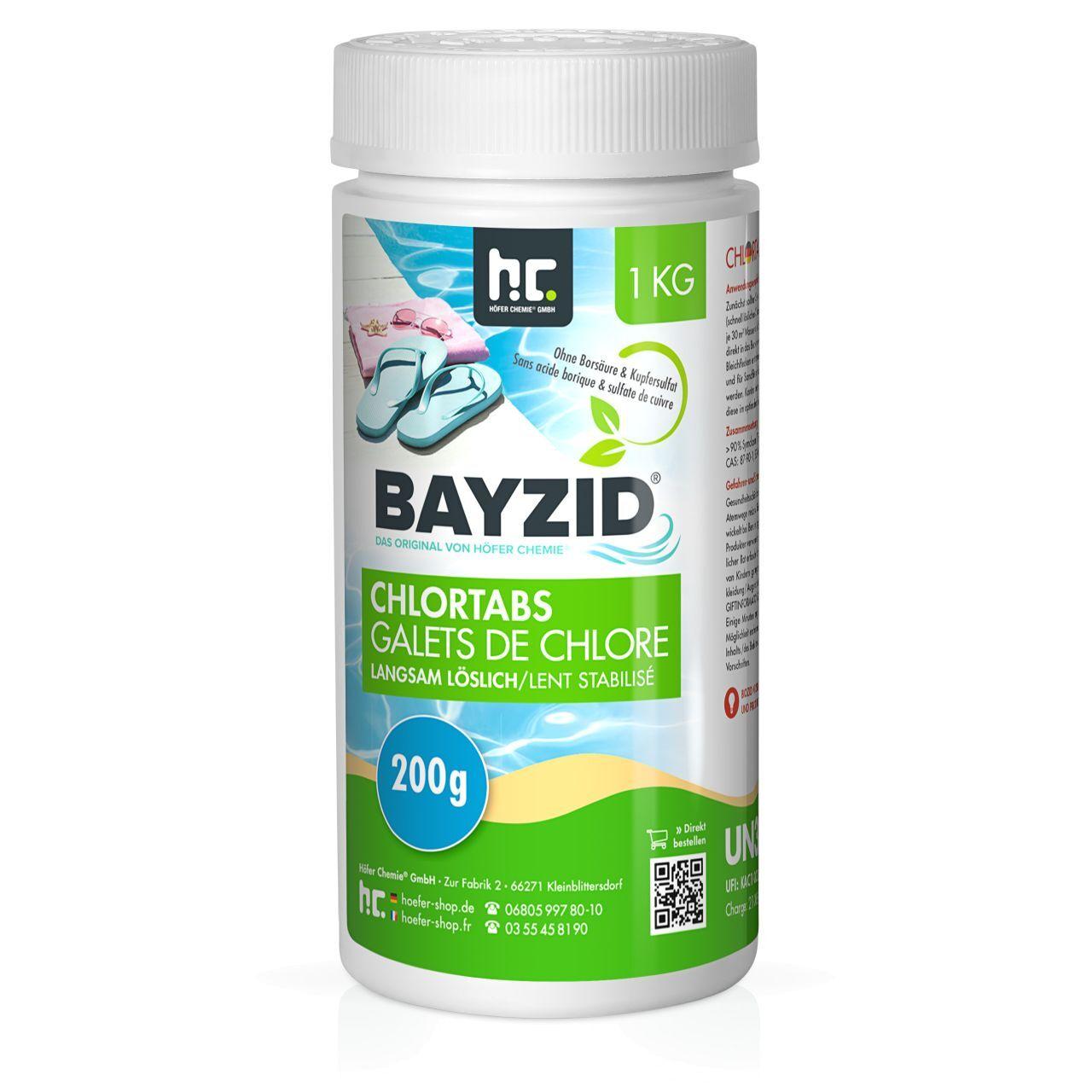 BAYZID 1 kg Bayzid® Galets de chlore lent (200g) (1 x 1 kg)