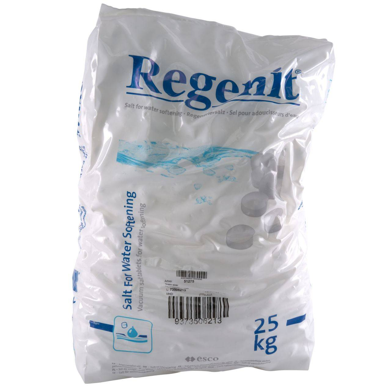 Regenit 25 kg Tablettes de sel raffiné Regenit® pour la régénération des adoucisseurs...