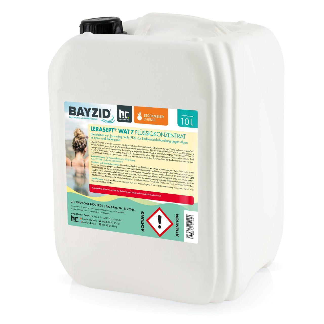 Lerasept 40 l Lerasept® WAT-7 Oxygène actif pour piscine (4 x 10 l)