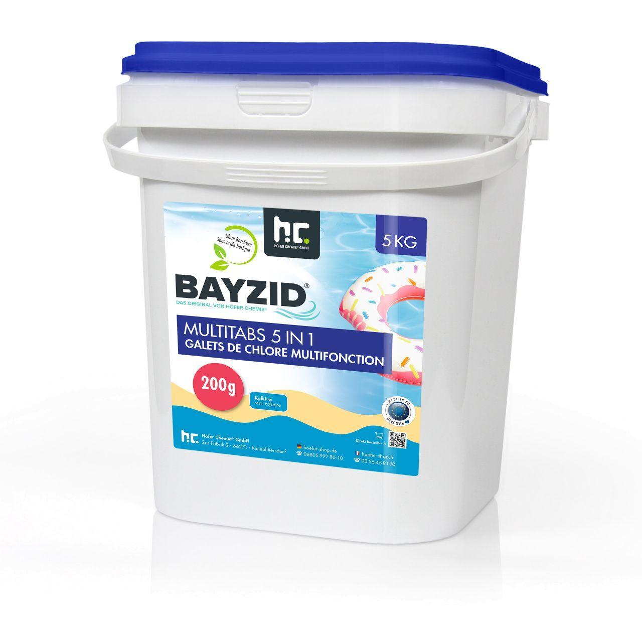 BAYZID 5 kg Bayzid® Galets de chlore multifonction (200g) (1 x 5 kg)