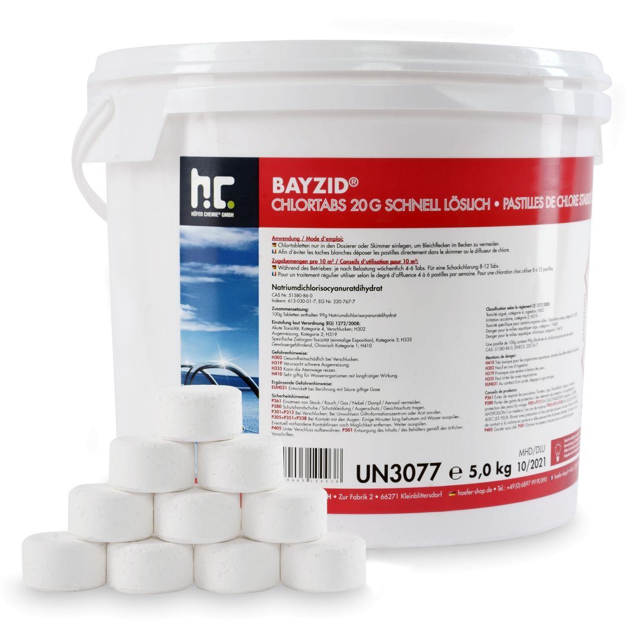 BAYZID 20 kg Bayzid® Pastilles de chlore choc (20g) (4 x 5 kg)