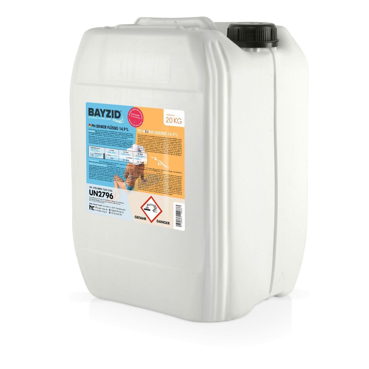 BAYZID 80 kg pH moins liquide (4 x 20 kg)