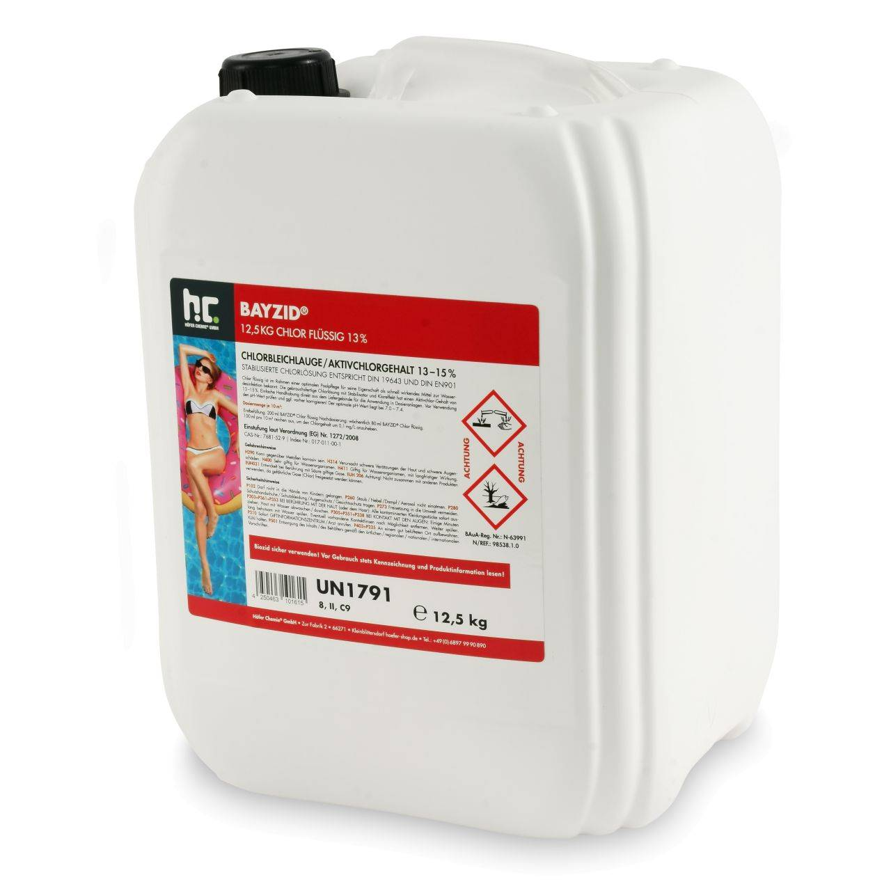 BAYZID 50 kg Bayzid® Chlore liquide 48° (4 x 12.5 kg)
