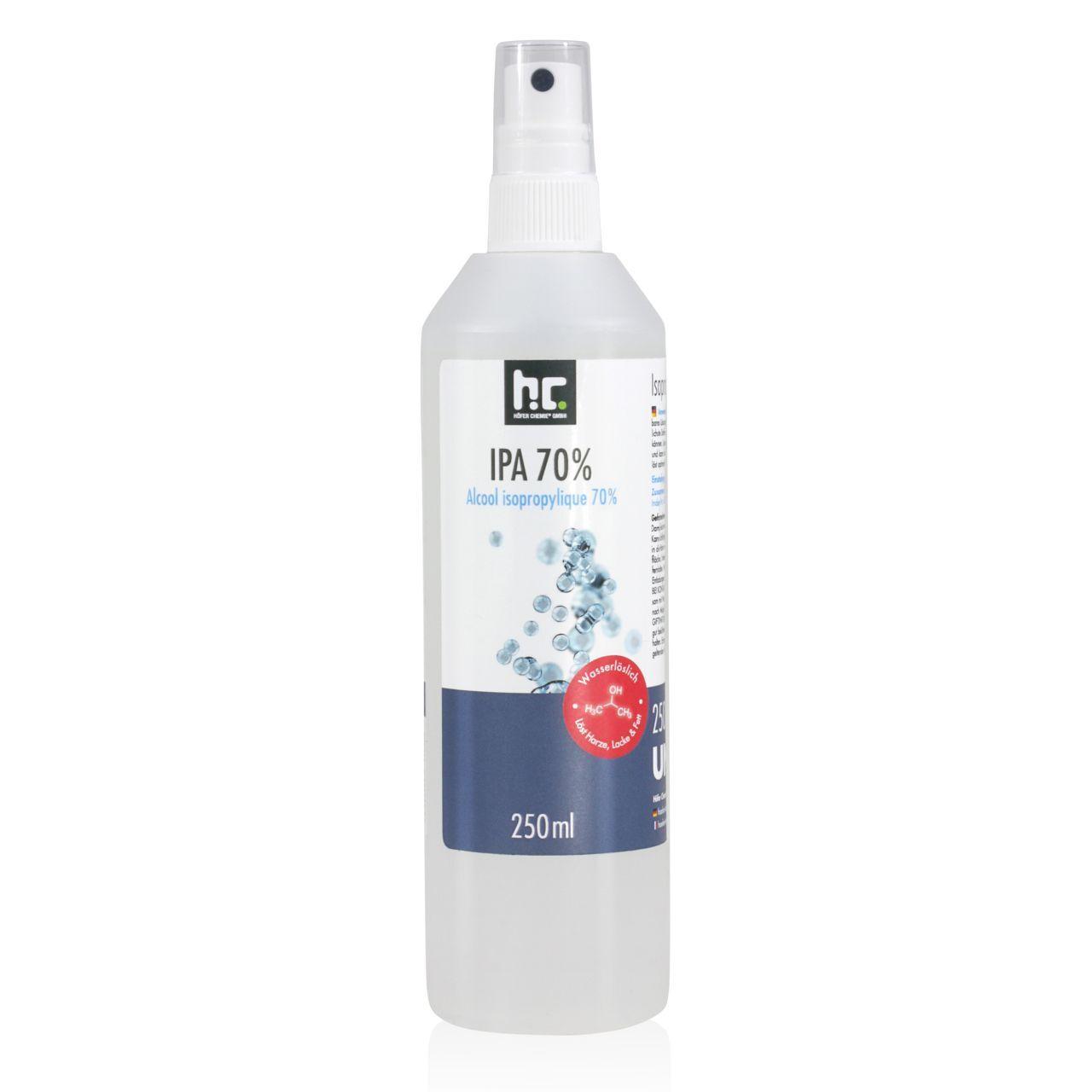Höfer Chemie 6 l alcool isopropylique 70% en flacon vaporisateur (24 x 250 ml)