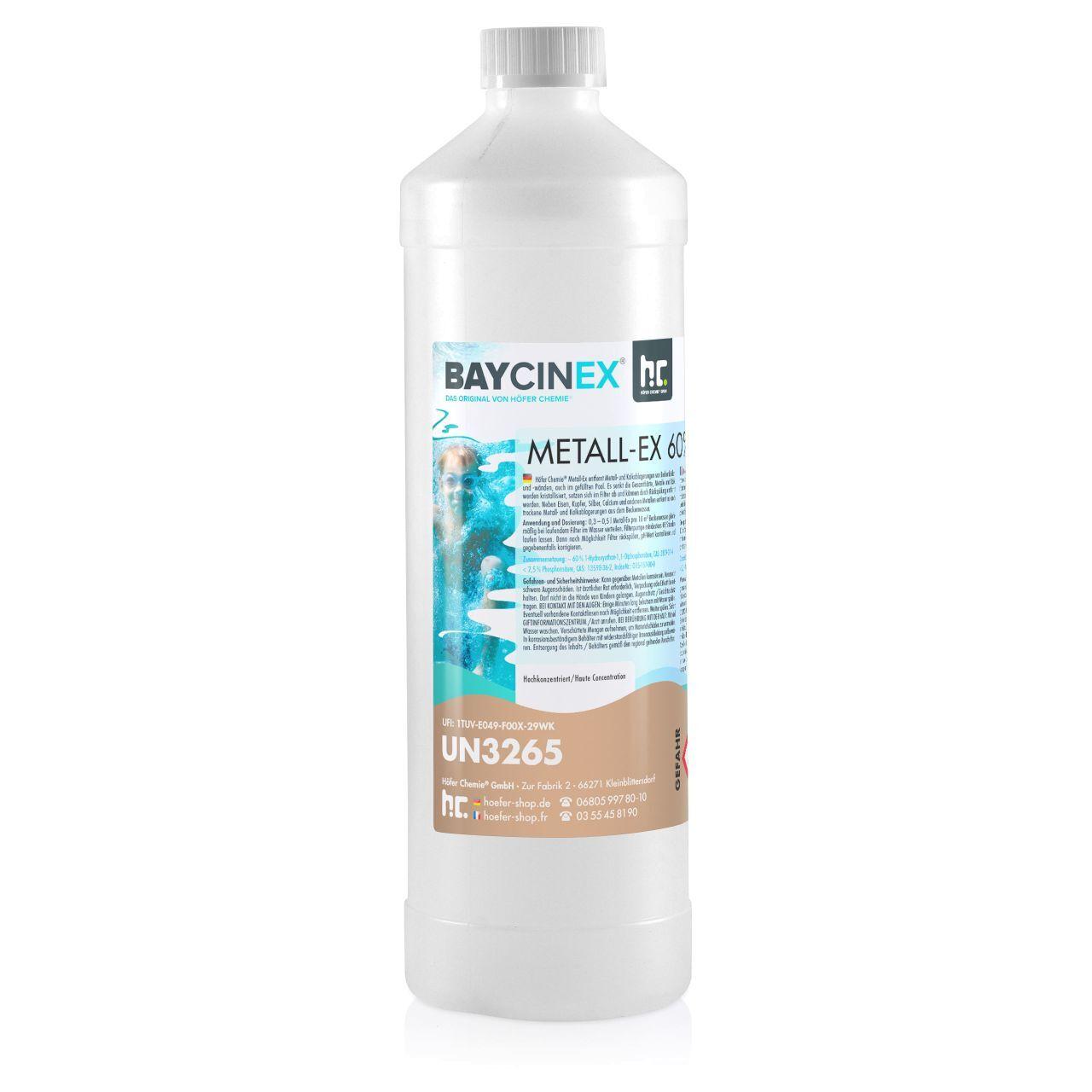 Höfer Chemie 6 l BAYCINEX® Séquestrant Métaux Anti-Métaux (6 x 1 l)