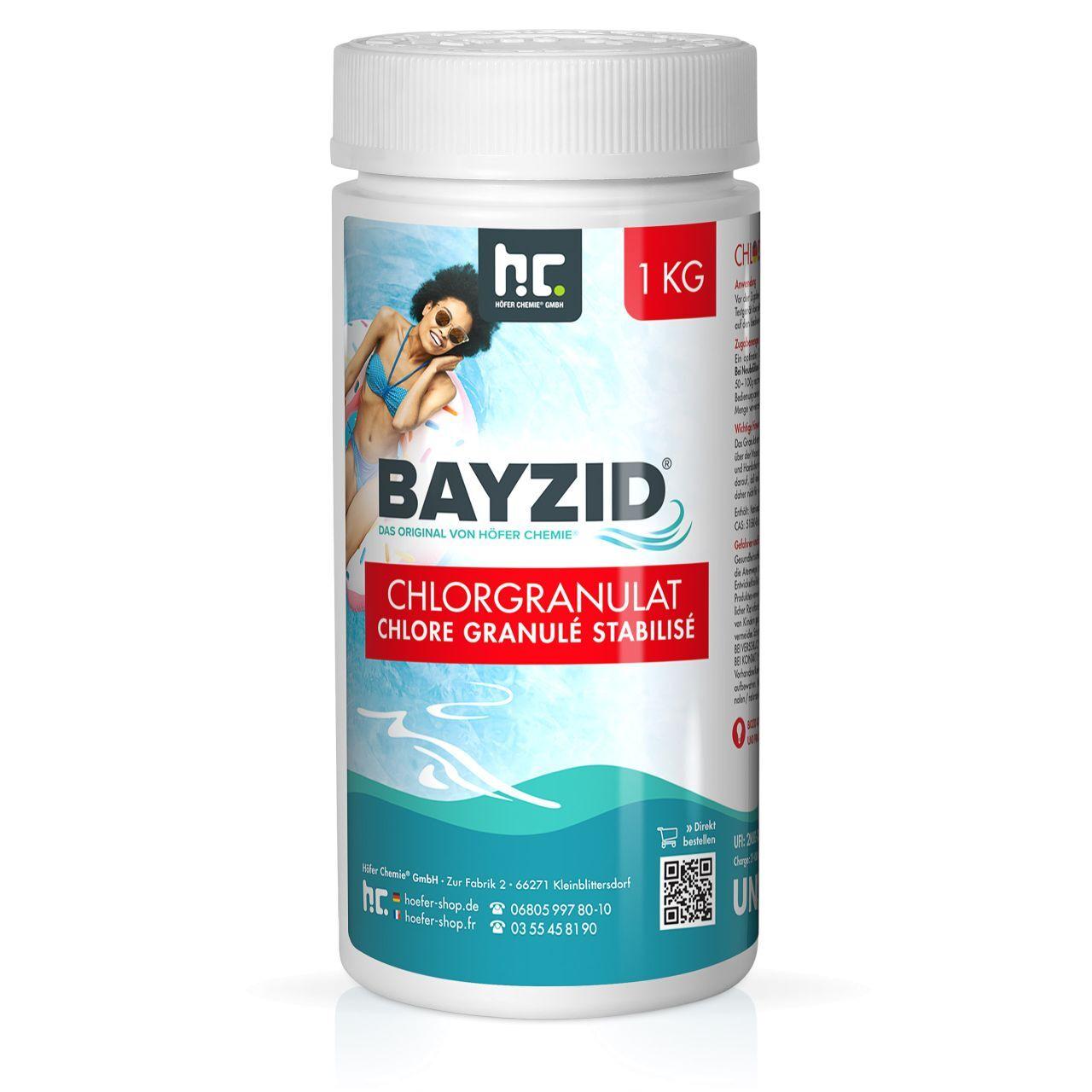BAYZID 6 kg Bayzid® Pastilles de chlore choc (20g) (6 x 1 kg)