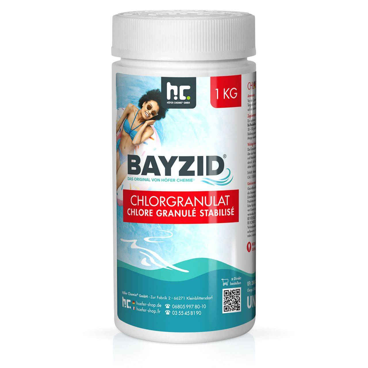 BAYZID 12 kg Bayzid® Pastilles de chlore choc (20g) (12 x 1 kg)