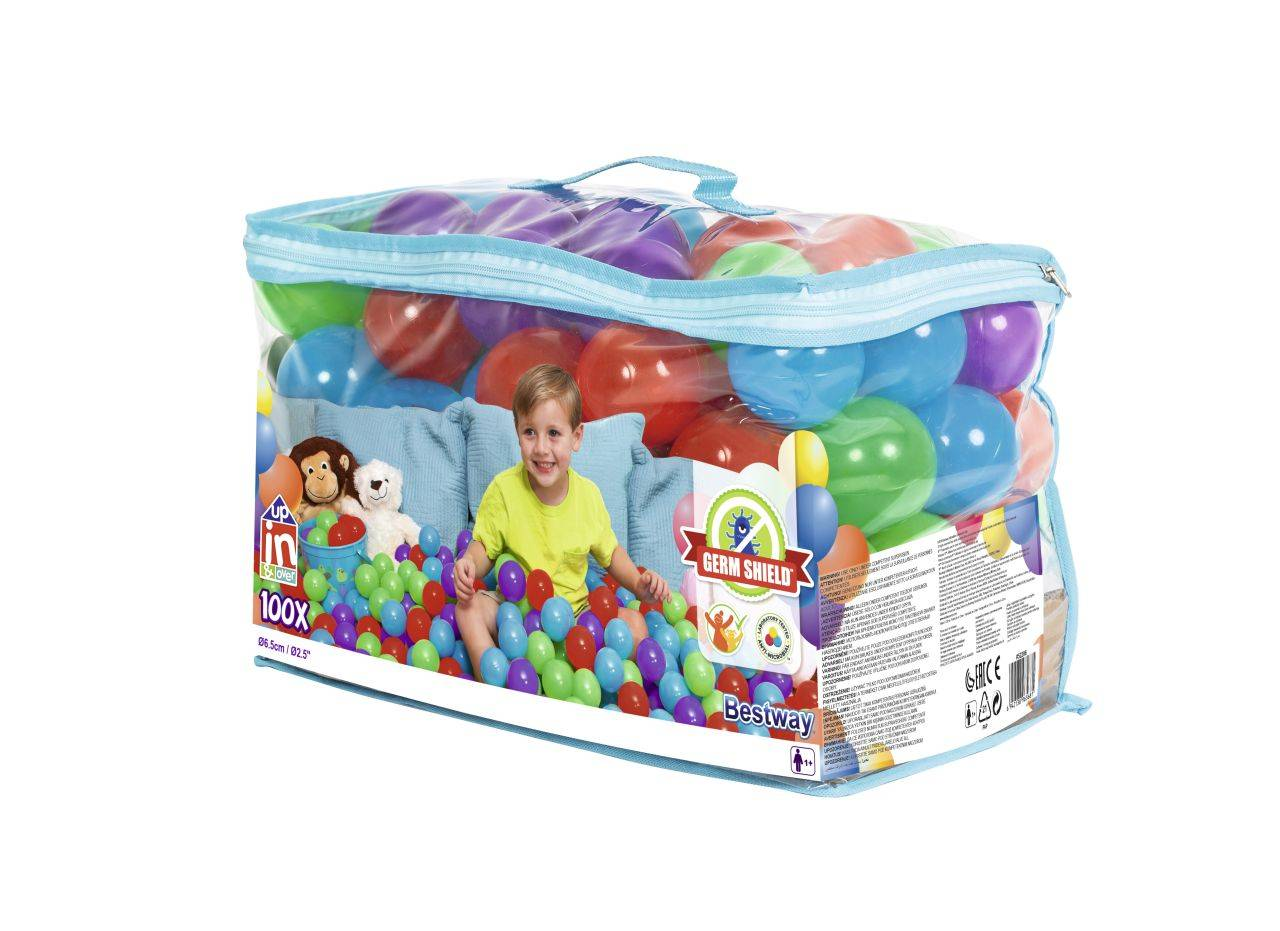 Höfer Chemie 100 balles pour piscine à balles avec sac de transport