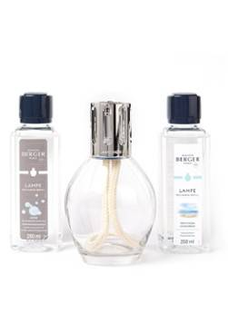 Lampe Berger Brûleur de parfum Essentielle ovale avec recharges 2 x 250 ml en coffret cadeau