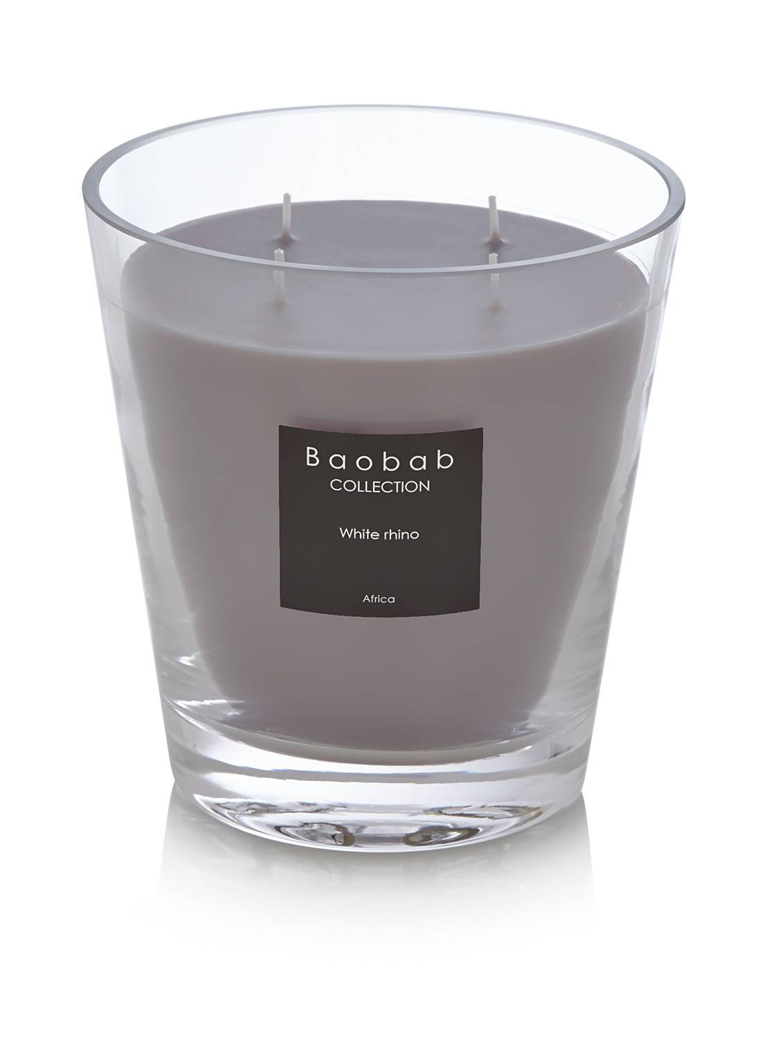 baobab collection Bougie parfumée White Rhino Africa - Gris clair