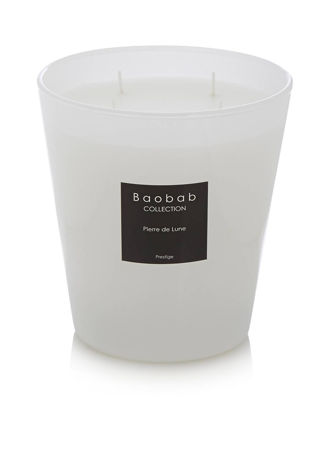 baobab collection Bougie parfumée Pierre de Lune Prestige - Blanc