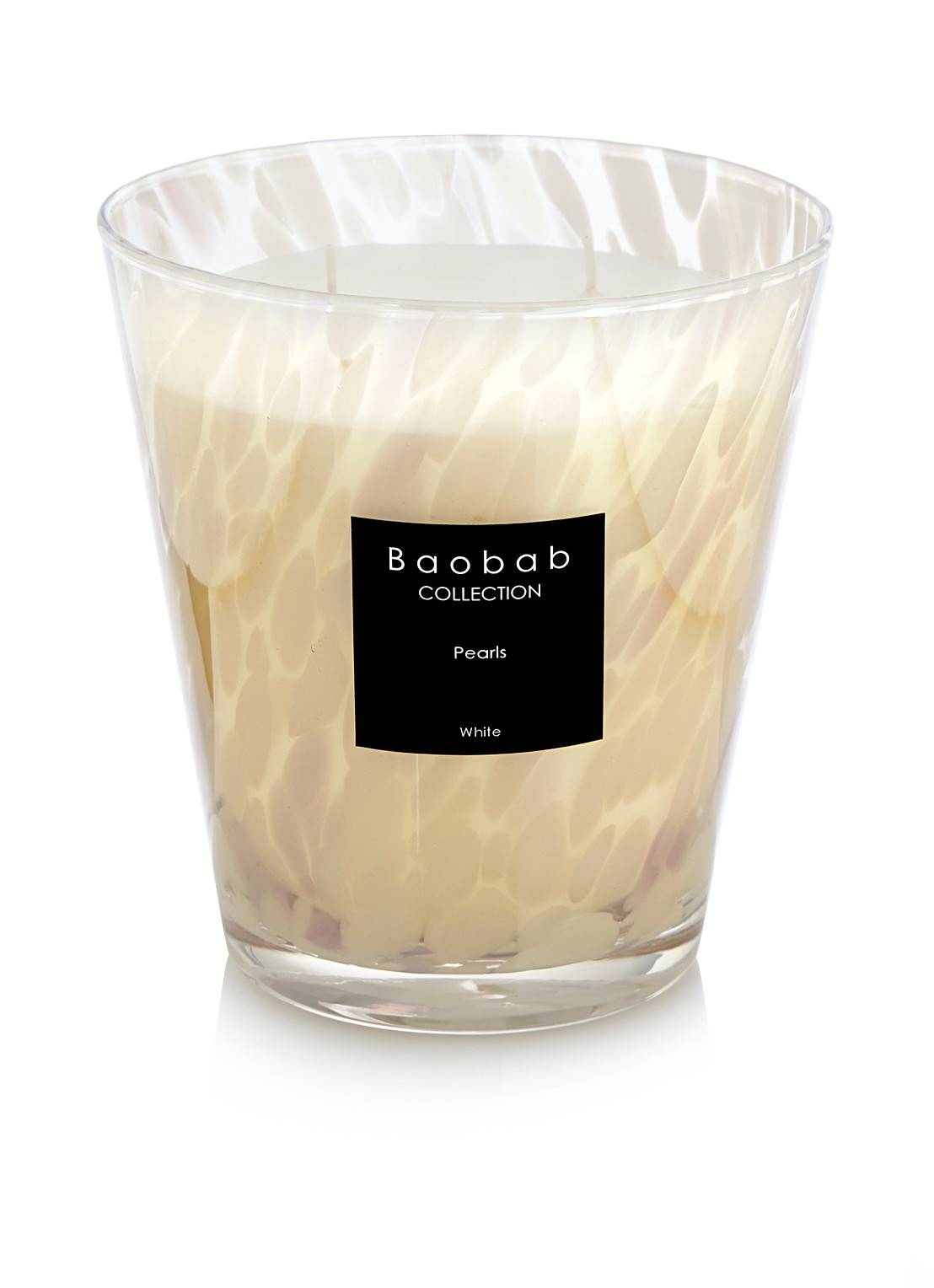 baobab collection Bougie parfumée Perles blanches - Blanc