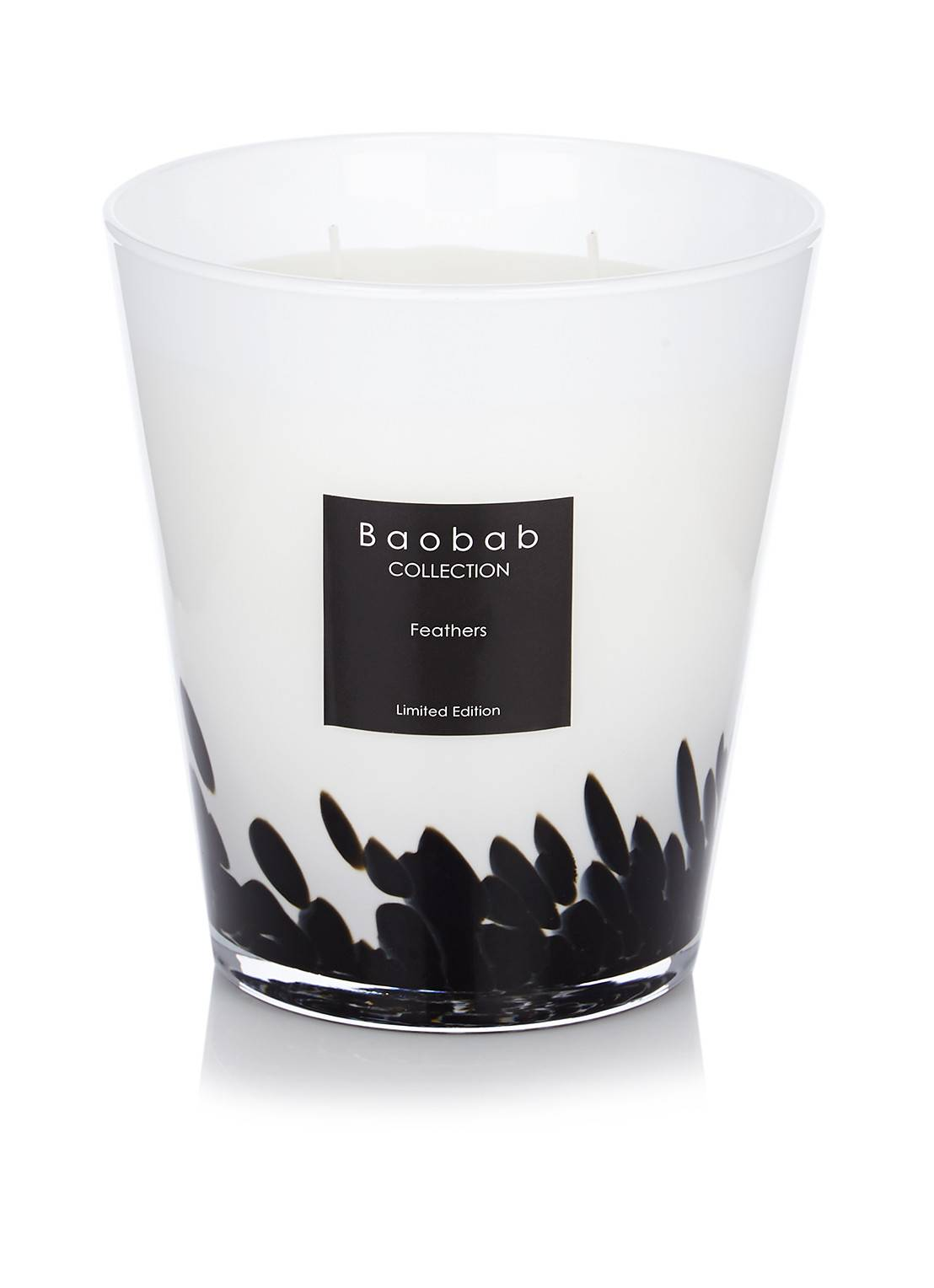 baobab collection Bougie parfumée Max 16 Plumes - Blanc