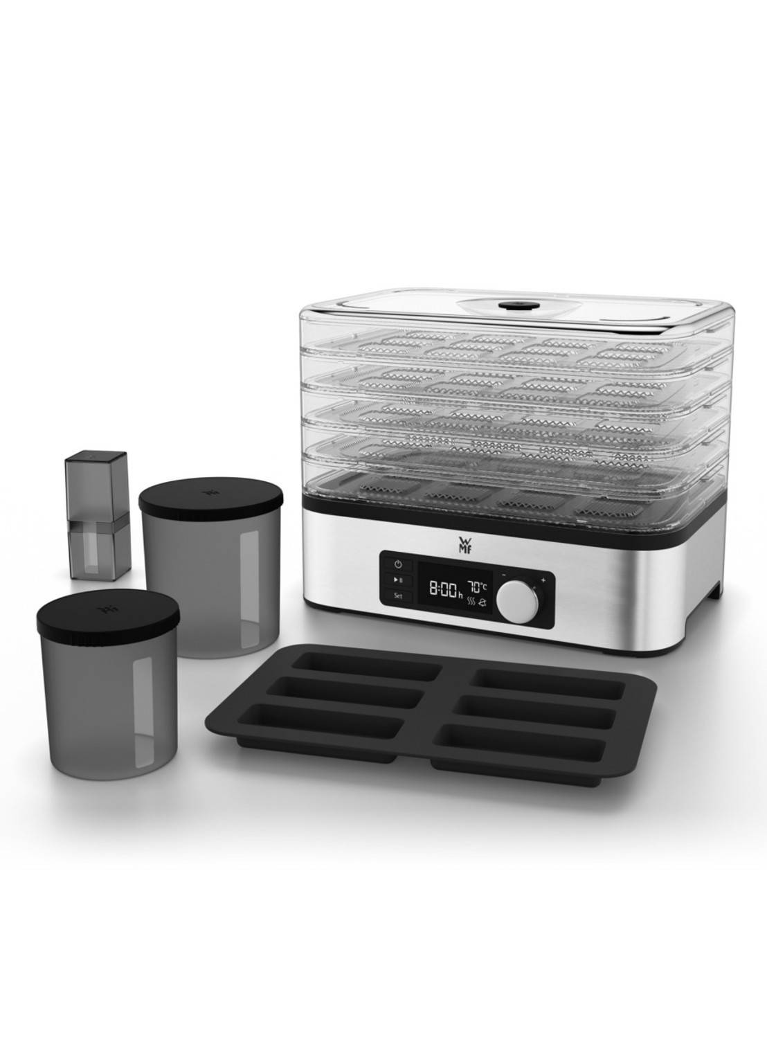 wmf Four de séchage KITCHENminis snack-to-go - Argent