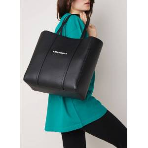 balenciaga Shopper Everyday S en cuir veau - Noir - Publicité