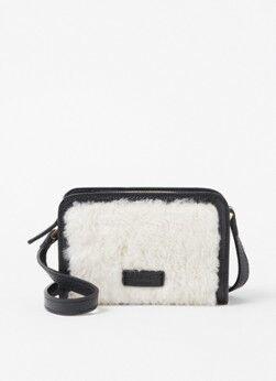 L.K.Bennett Sac à bandoulière Botsy en peau de mouton avec détails en cuir