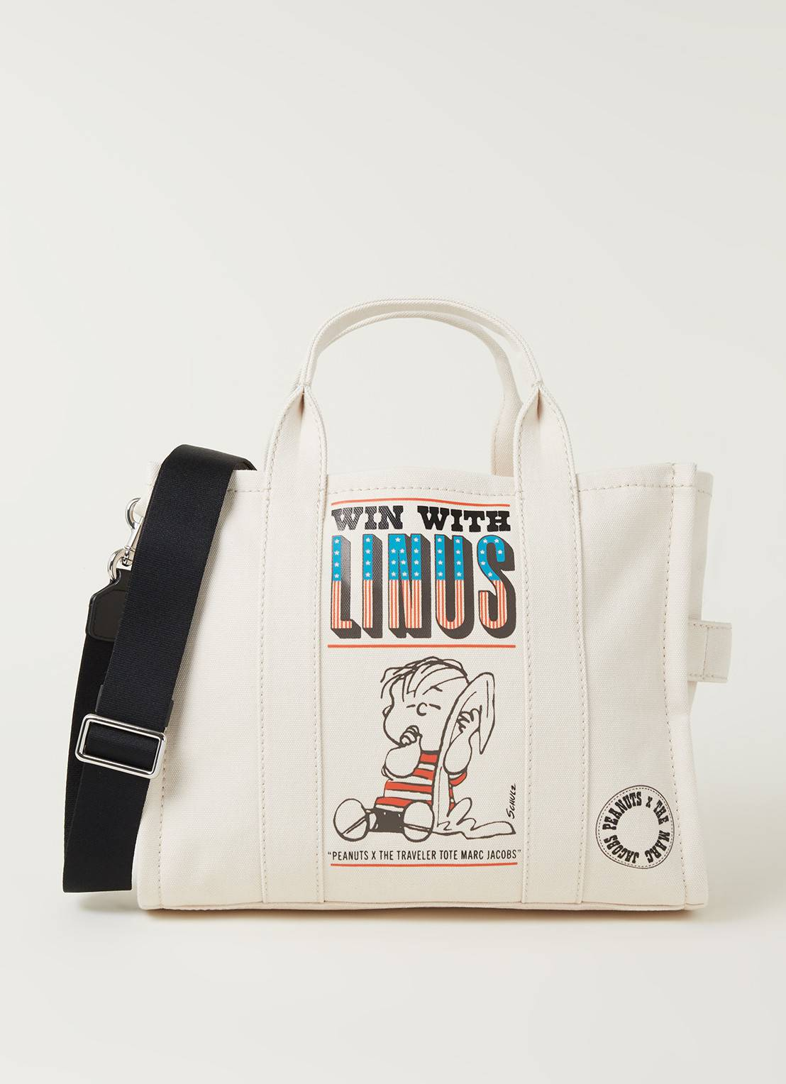 the marc jacobs Sac à main The Small Traveller Tote en coton - Blanc