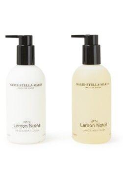 Marie-Stella-Maris No.74 Citron Notes Love To Give Coffret cadeau savon pour les mains et gel douche + lotion pour les mains et le corps