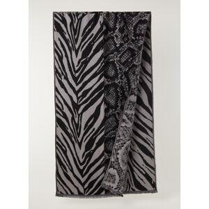 allsaints Echarpe Patchwork Oblong en laine mélangée 205 x 55 cm - Gris chiné - Publicité