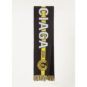 balenciaga Écharpe Soccer en laine mélangée avec logo 120 x 20cm - Noir - Publicité