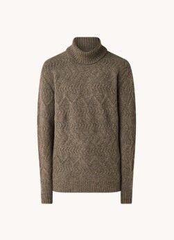NN07 Pull à col roulé en grosse maille de laine mélangée