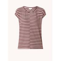 armedangels Années en T-shirt en maille fine avec imprimé à rayures - Vieux rose <br /><b>49.9 EUR</b> Debijenkorf.fr