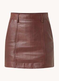Reiss Mini-jupe Eliza en peau de mouton avec poches latérales
