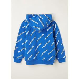 balenciaga Sweat à capuche avec imprimé logo intégral - Bleu - Publicité