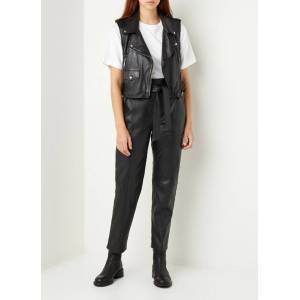 arma Pantalon en cuir coupe fuselée taille haute Claire - Noir - Publicité