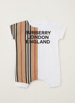 BURBERRY Combinaison pour bébé Lennox avec imprimé logo