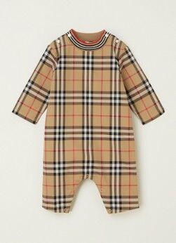 BURBERRY Combinaison pour bébé Michael avec motif à carreaux