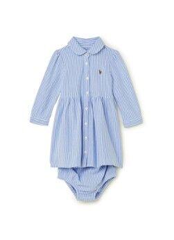 Ralph Lauren Robe trapèze à rayures et pantalon à couches