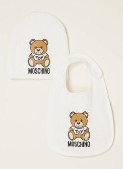 Moschino Set cadeau avec combinaison bébé et bavoir 2 pièces