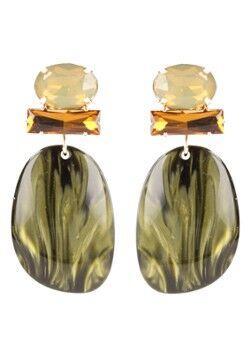 LOTT. gioielli Boucles d'oreilles Swarovski plaqué or Aurora