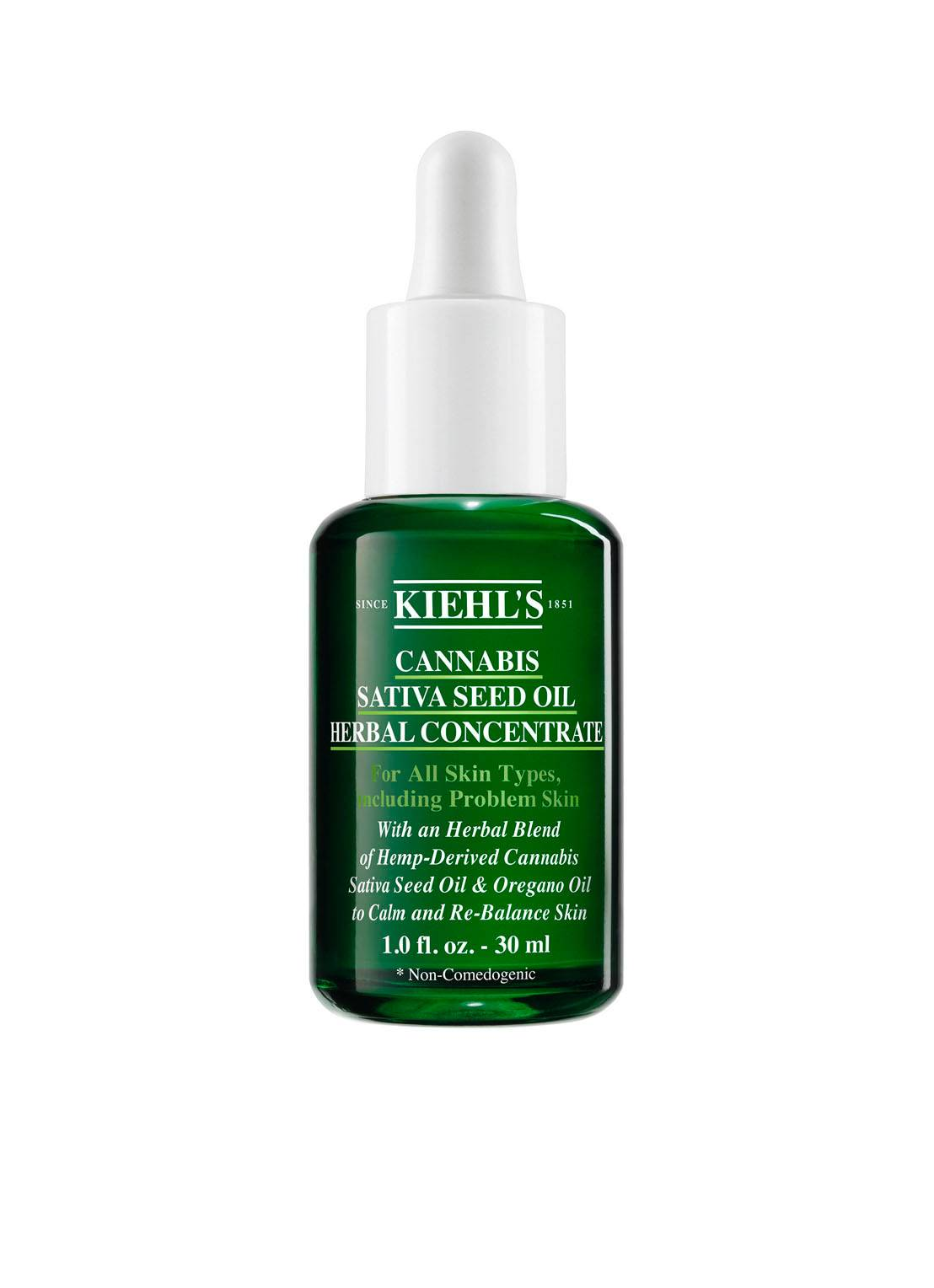 Kiehl's kiehls Cannabis Sativa Seed Oil Herbal Concentrate - huile pour le visage -