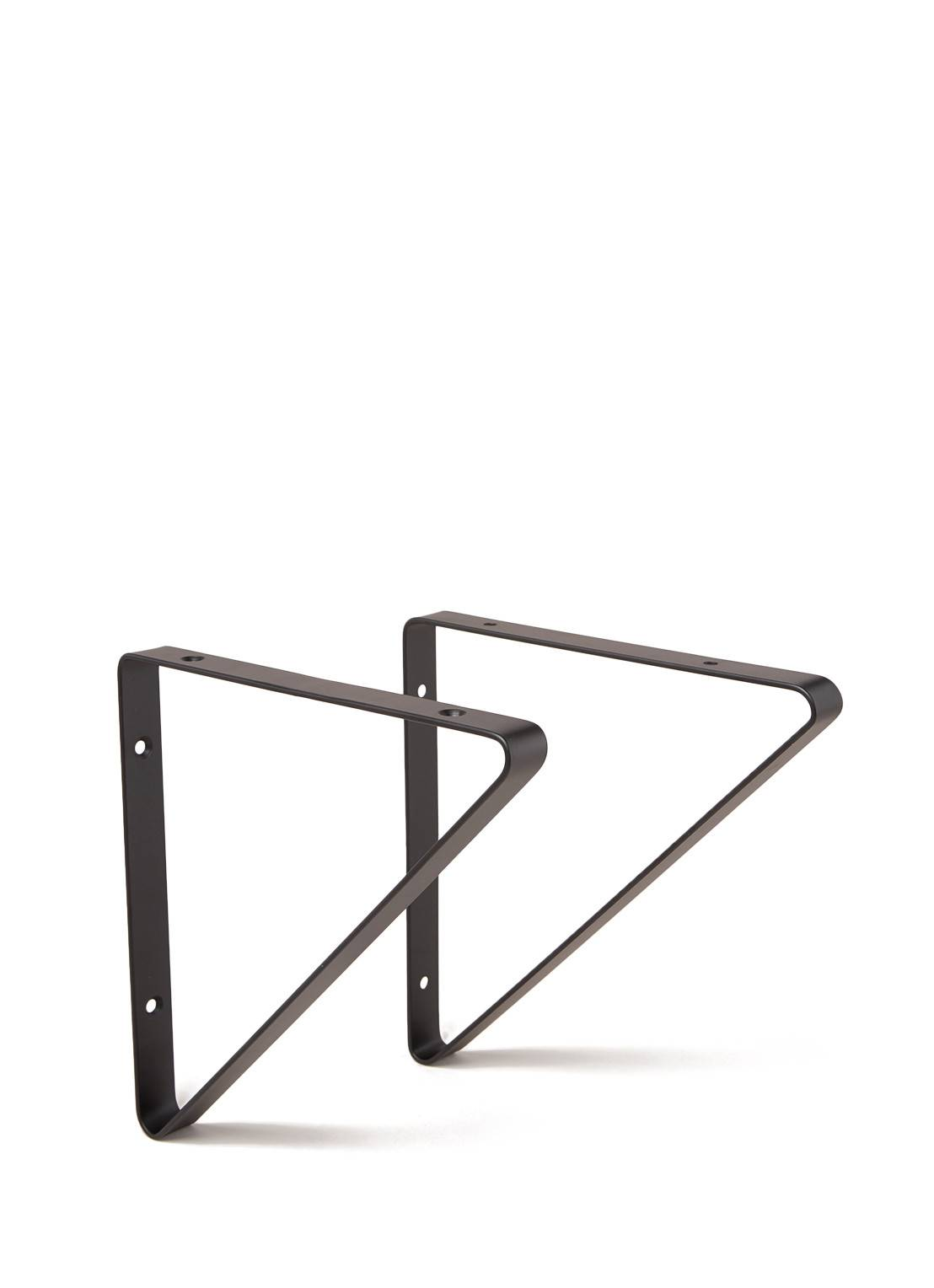 ferm living Support d'étagère 24,5 cm lot de 2 - Noir
