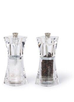 Cole & Mason Moulin à poivre et sel en cristal 11 cm 2 pièces